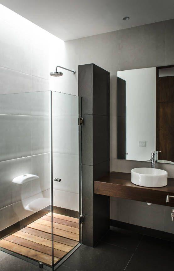 Aseos modernos simple krion bath decoracin de baos for Aseos modernos