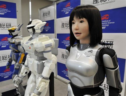 japan technology, robots that look like real humans.