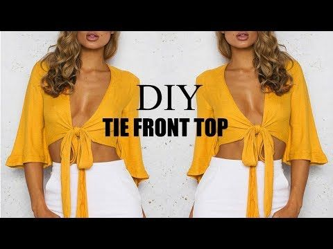 T Shirt Reconstruction Knotted Shawl Youtube Crop Top Pattern Diy Fashion Clothing Make A Tie