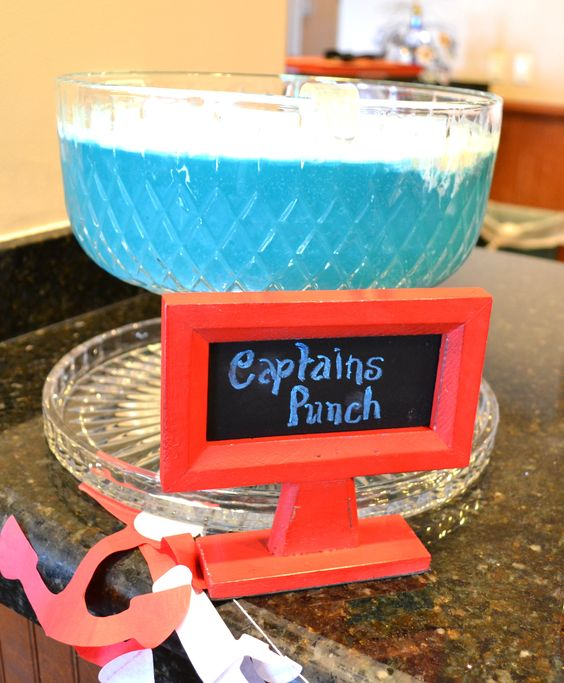 "How To Make Baby Shower Punch: Ahoy, It's A Boy Baby Shower Theme. ""Captains Punch"