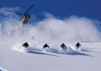 """When someone asks me if I've been ski-diving, I'll be able to say, """"Nope, I've only been *HELI SKIING*, BEOTCH!"""" #Skiing -- Find articles on adventure travel, outdoor pursuits, and extreme sports at http://adventurebods.com"""