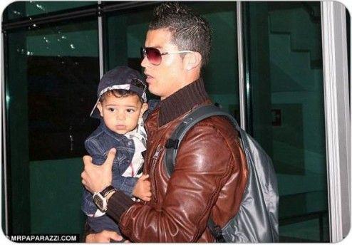 Cristiano Ronaldo With his Son Cristiano Jr.