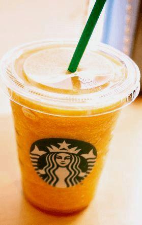 Orange Creamsicle Frappuccino from the Starbucks Secret Menu App!