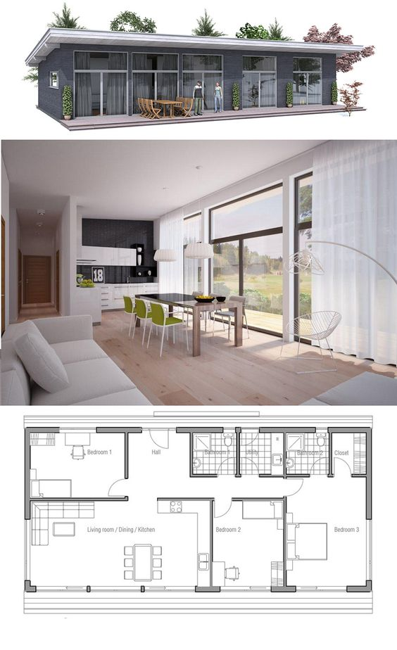 Planta de casa casas pequenas pinterest for Casa floor