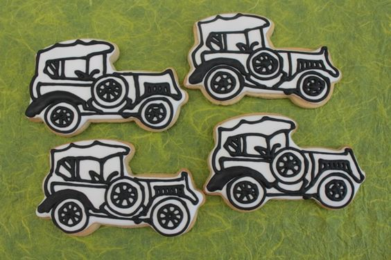 Vintage car cookies by Miss Biscuit