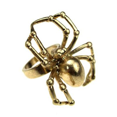 i love this... its like those halloween spider rings... but shinier!