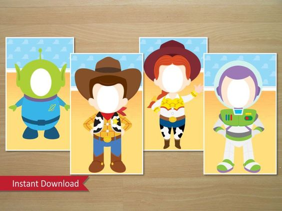 Toy Story Photo Booth Prop Buzz Woody Jessie & por SquigglesDesigns