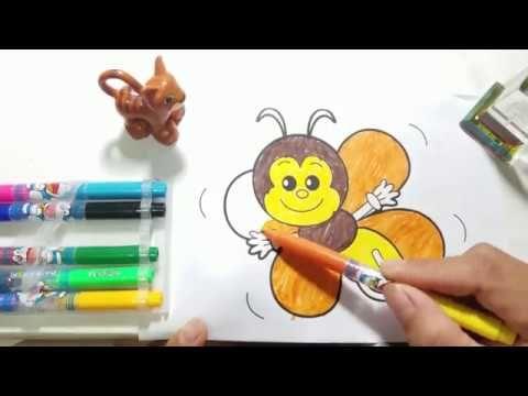 Come Disegnare E Colorare I Bambini Delfini Api Scimmie