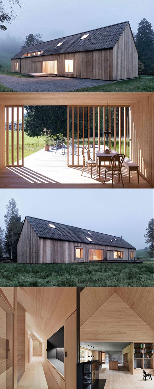 Beautiful moderne h user and rustikal modern on pinterest for Haus rustikal modern