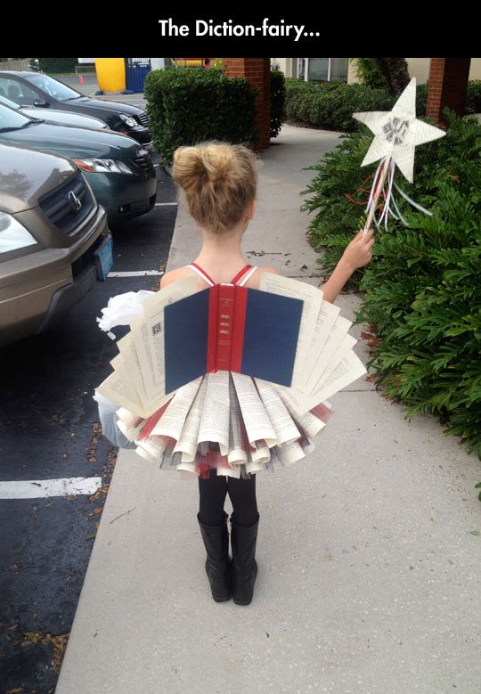 The Diction-fairy... Just this once I won't discuss the horrible things that have happened to make this costume possible.