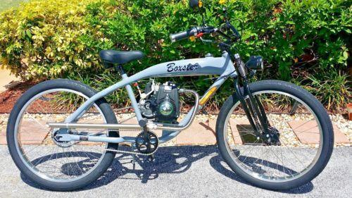 Motorized Bicycle With 49cc Huasheng 4 Stroke Motor Custom Built
