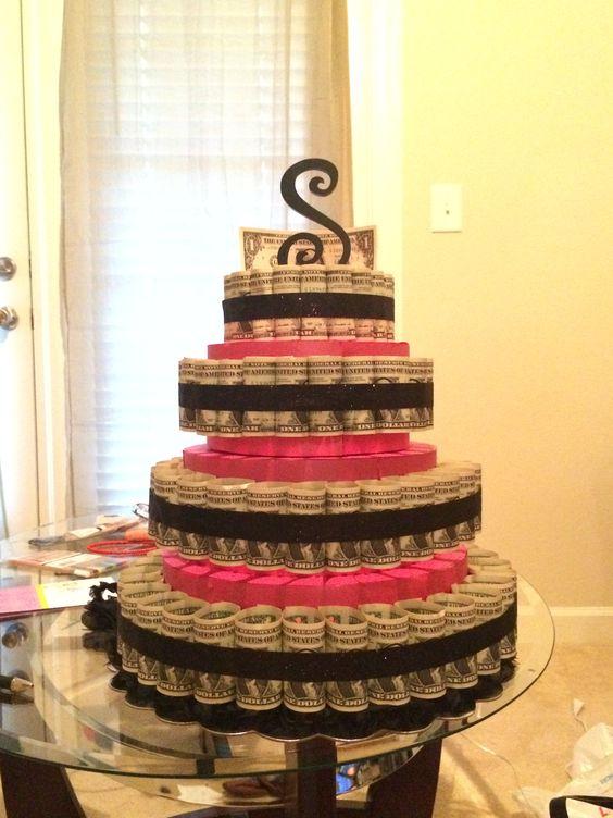 Dollar bill cake: made a money cake for my friends birthday. 100 one ...