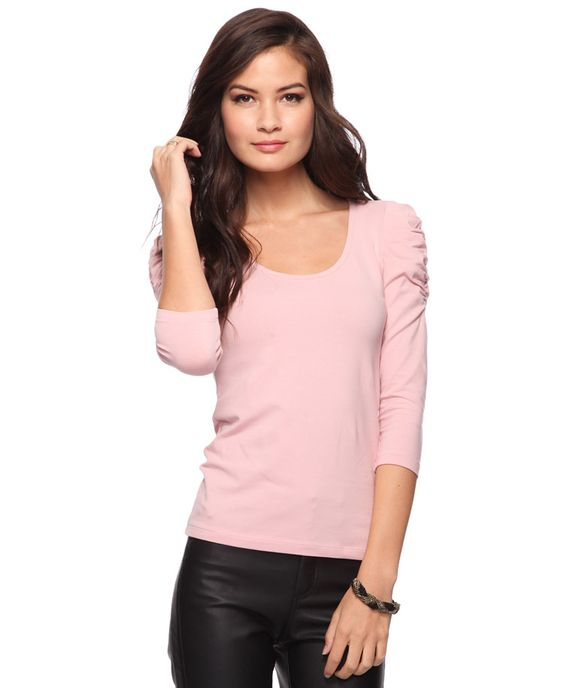 3/4 Puff Sleeve Top | FOREVER21 - 2000033253