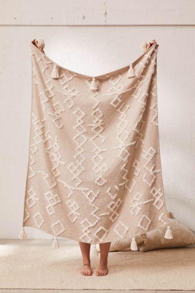 Geo Tufted Tassel Throw Blanket Urban Outfitters Canada In 2020 Boho Throw Blanket Urban Outfitters Home Boho Blanket