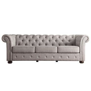 Chesterfield Tufted Scroll Arm Sofa by TRIBECCA HOME - Reviews, Deals & Prices - 16408509