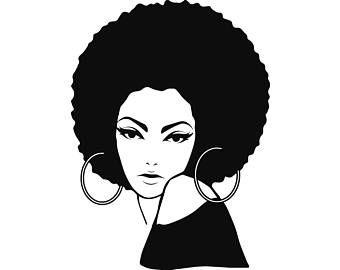 Afro Woman Svg Princess Queen Afro Hair Beautiful African Etsy Afro Women Black Girl Magic Art Black Woman Artwork