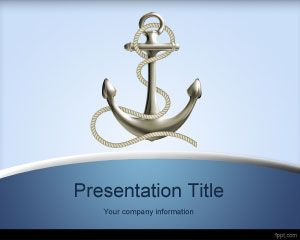 Anchorage PowerPoint Template is a free PPT template for maritime presentations but that you can also use for other presentations on cruises and travel