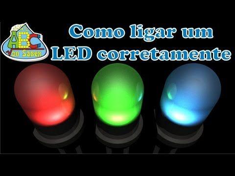 Como ligar LEDs corretamente - YouTube