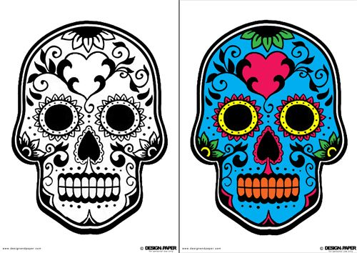 Design and Paper | D.I.Y. Día de los Muertos Masks (download ...