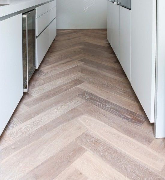 Don't know if I could handle the business of Wide plank herringbone floor but I like the gray oak coloring