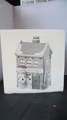 Dept 56 Dickens Village WATCHMAKER  Merchant Shop 1993
