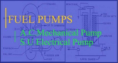 A C Mechanical Fuel Pump S U Electrical Fuel Pump In S I Engines In 2020 Mechanic Fuel Pumps
