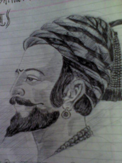 chatrapati shivaji maharaj sketch my sketches pinterest sketches