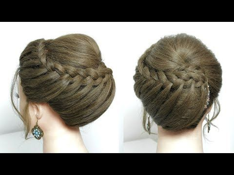Elegant Hairstyle For Long Medium Hair Tutorial Wedding Prom Updo Youtube Hair Tutorials For Medium Hair Medium Hair Styles Hair Styles