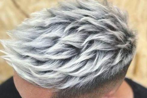 Haarfarbe männer graue Männer Frisur