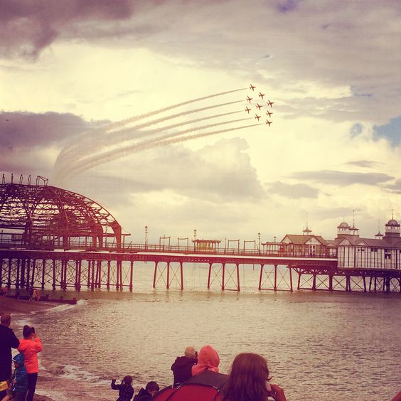 ..red arrows over eastbourne pier..
