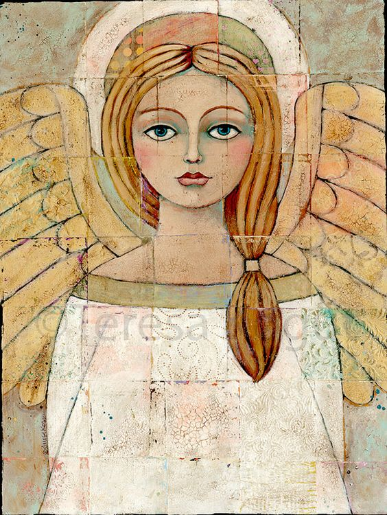 Angel Art Tutorial Painting Mix Media Art Classes