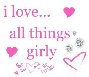 Being a girl girly things and i am on pinterest - Girly myspace quotes ...