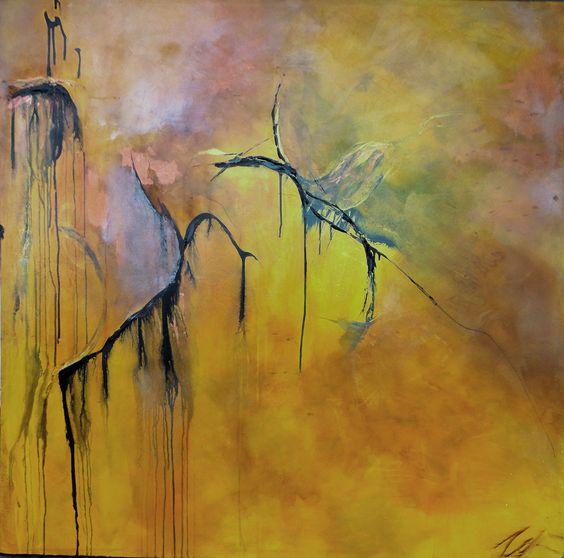"""Cuneiform"" 48"" x 49"" acrylic on canvas $2,750 original artwork $275 'metallic finish' print 20"" x 20"" unframed $175 matte finish print 20 x 20"" unframed $255 matte finish print 20 x 20"" framed"