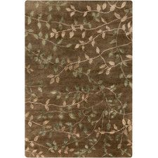 Synergy Charcoal/Olive Floral Area Rug