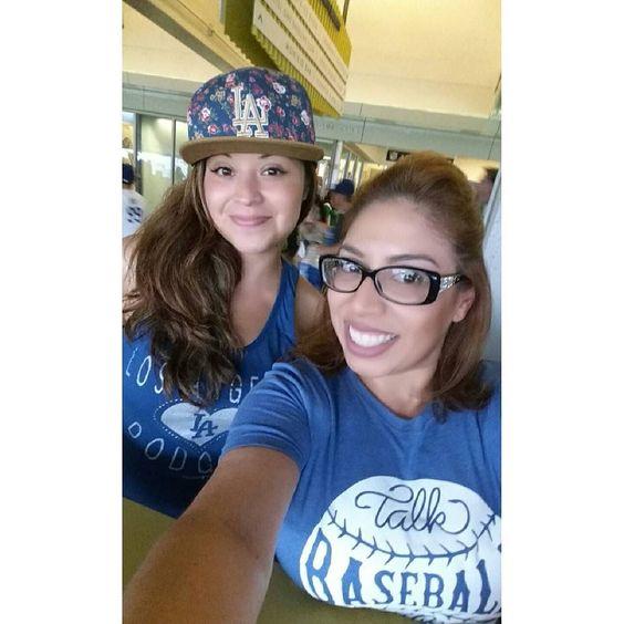 THINK BLUE: With my main chick my P.I.C.  few months ago. #ourparadise #homesweethome #TBT #Dodgers #baseballislife #livebreatheblue #knowthegamelivethegameplaythegame #LosAngelesDodgers #Dodgerfans #talkbaseballtome #nofakefansherebooboo  #blueheavenonearth by 416happydodgergirl