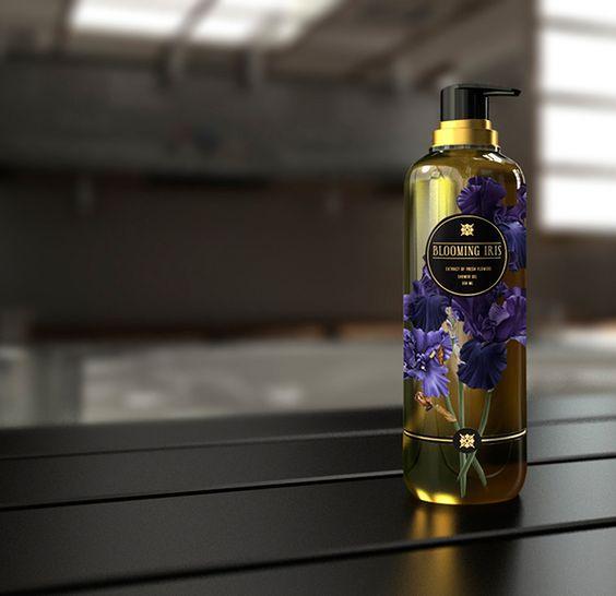 shower gel iris on Packaging Design Served