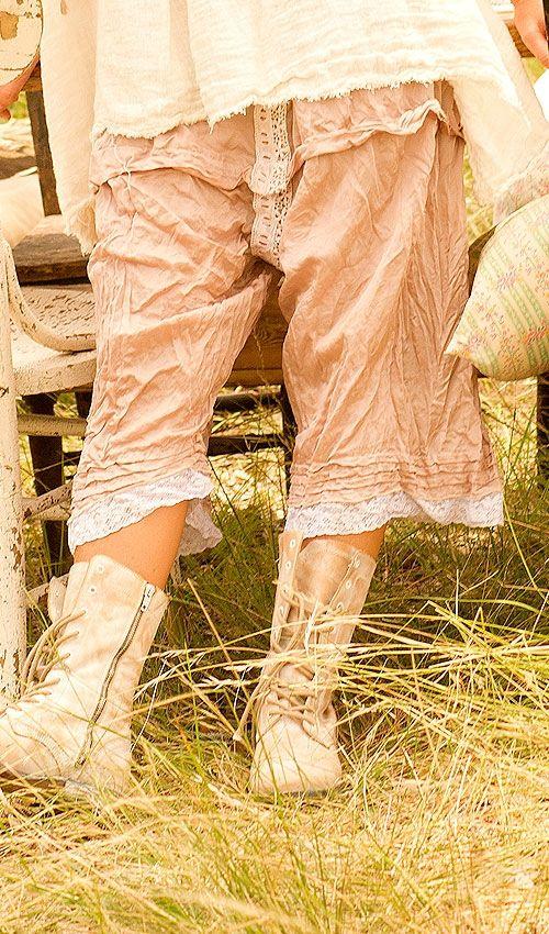 MP panta rose en soie et dentelle neuf avec étiquette