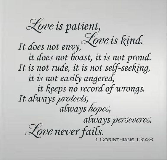 Wedding Reading Love Is Patient: Pinterest • The World's Catalog Of Ideas