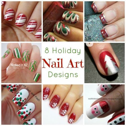 8 Holiday Nail Art Designs