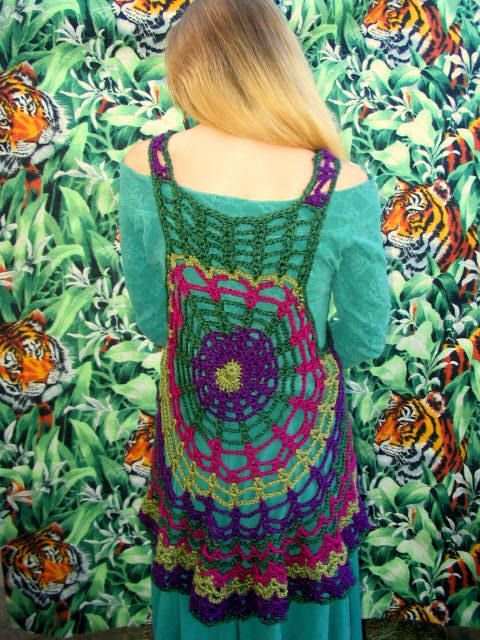 Choose Your Own Color Spider Web Mandala Vest  by elorascastle, $149.00