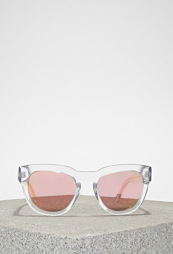 How cool are these Forever 21 married to the mob kiki crystal clear sunglasses ($75)
