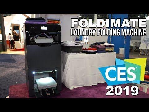 Foldimate Laundry Folding Machine At Ces 2019 Youtube