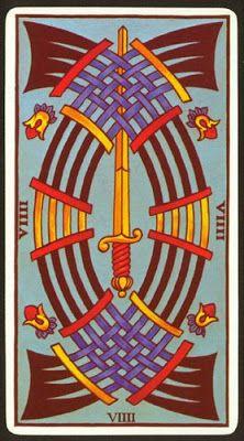 Arcanos Menores Marsella Nueve De Espadas Magia Del Tarot Cartas Del Tarot Vintage Arcanos Menores Espadas