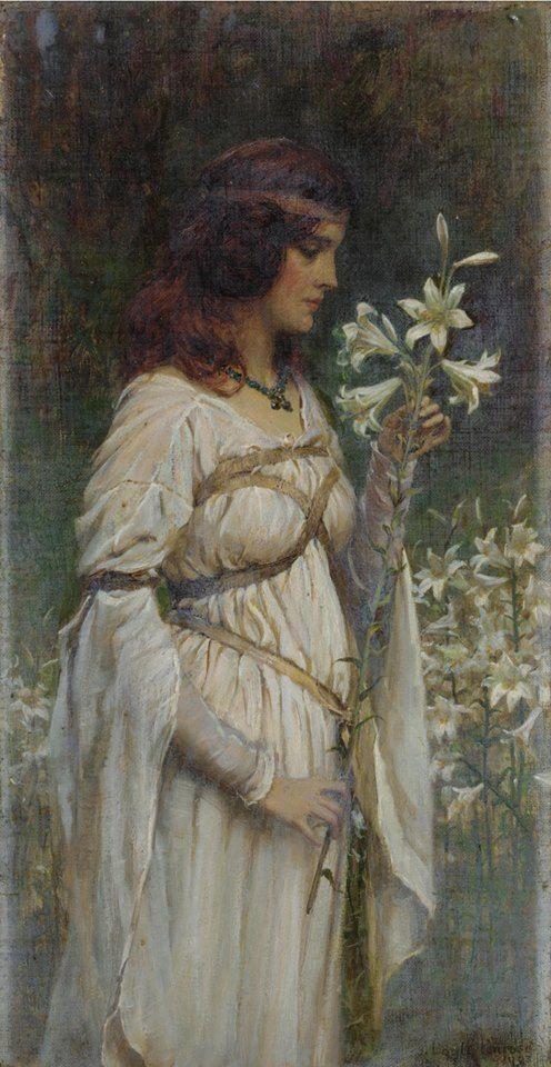 James Doyle Penrose RHA JP (1862-1932) — Innocent Beauty (496×960):