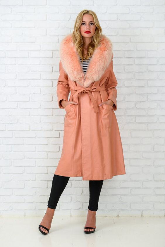 Pink Retro Coat from the 70s by thekissingtree