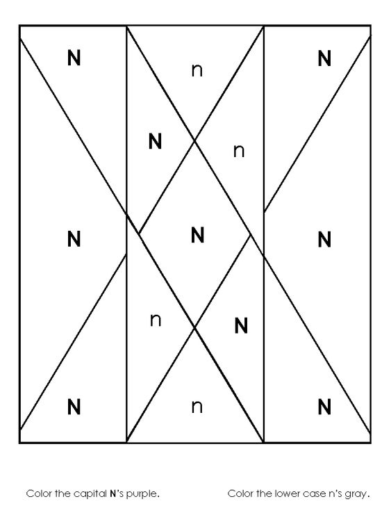 kindergarten consonant activity pages   letter N   Pinterest ...