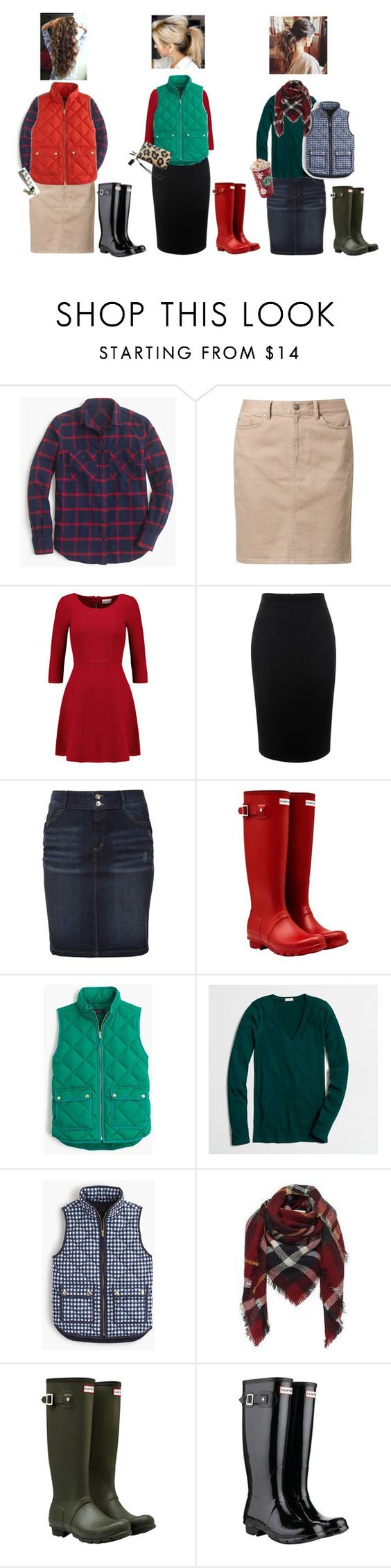 """Vest & Boots"" by showcow9 ❤ liked on Polyvore featuring J.Crew, Tommy Hilfiger, Milly, Alexander McQueen, s.Oliver, Hunter and Coach"