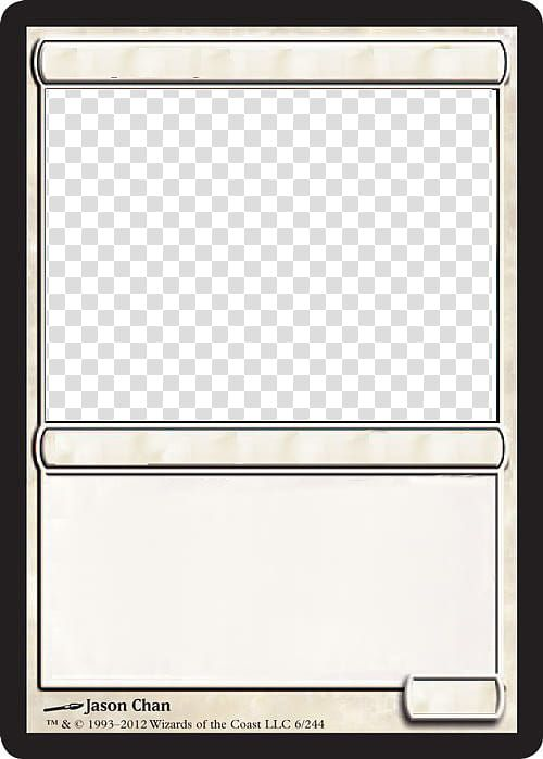 Mtg Blank White Card Transparent Background Png Clipart In Blank Magic Card Template Card Template Magic The Gathering Cards Transparent Background