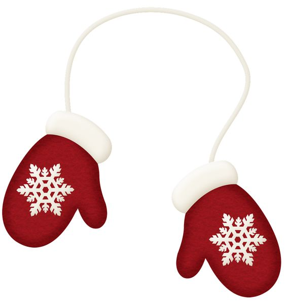 WINTER RED MITTENS CLIP ART