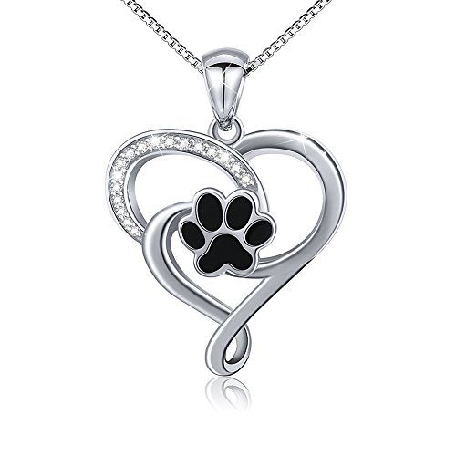 S925 Sterling Silver Jewelry Puppy Dog Cat Pet Paw Print Stud Earrings Black